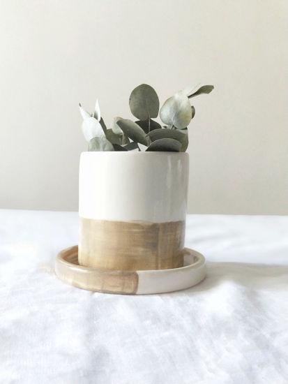 Foto de Maceta de cerámica con plato  «Carraca»