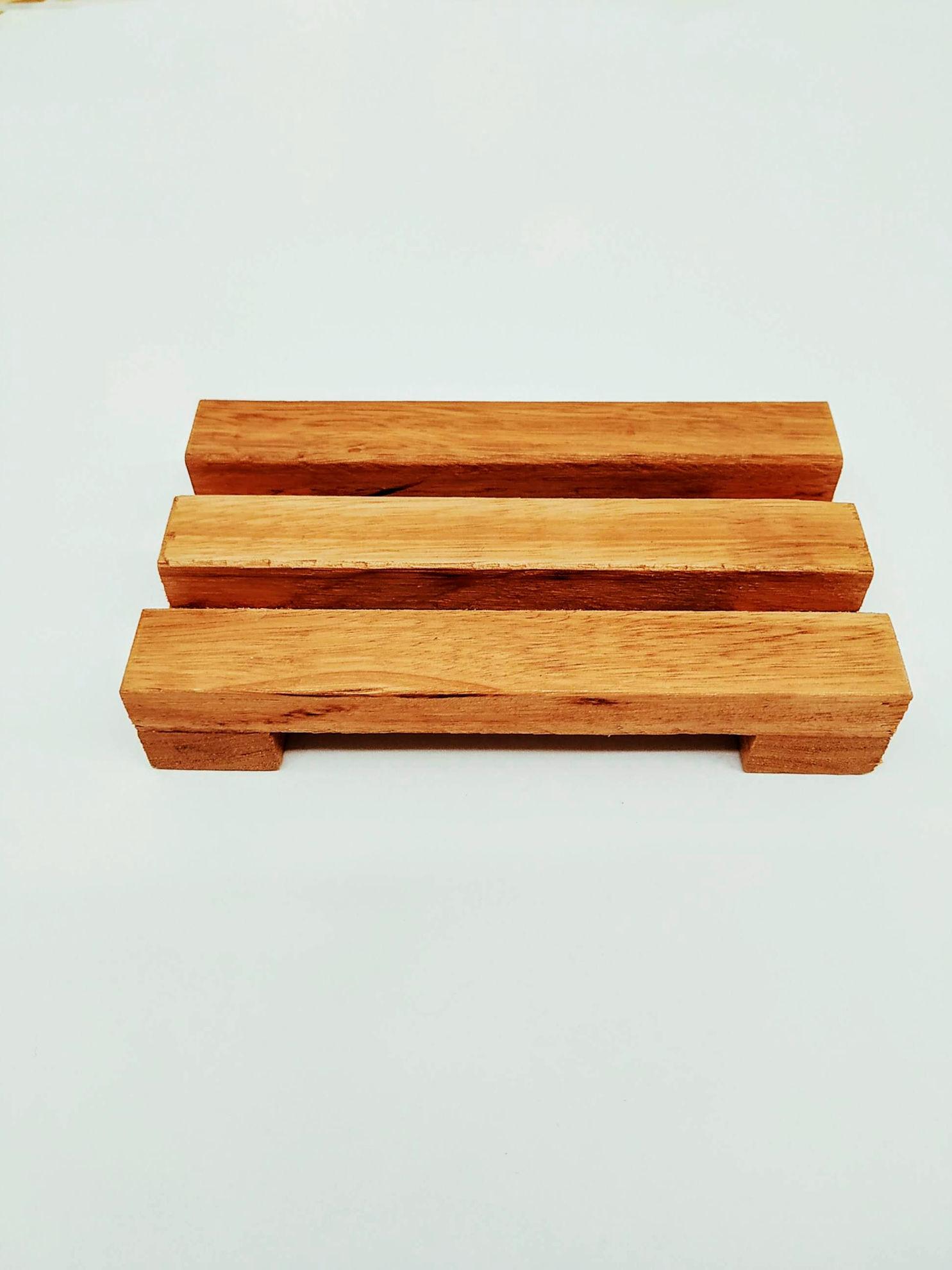 Foto de Jabonera sustentable de madera -Doble-