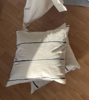 Foto de Set por 3  almohadones rayados