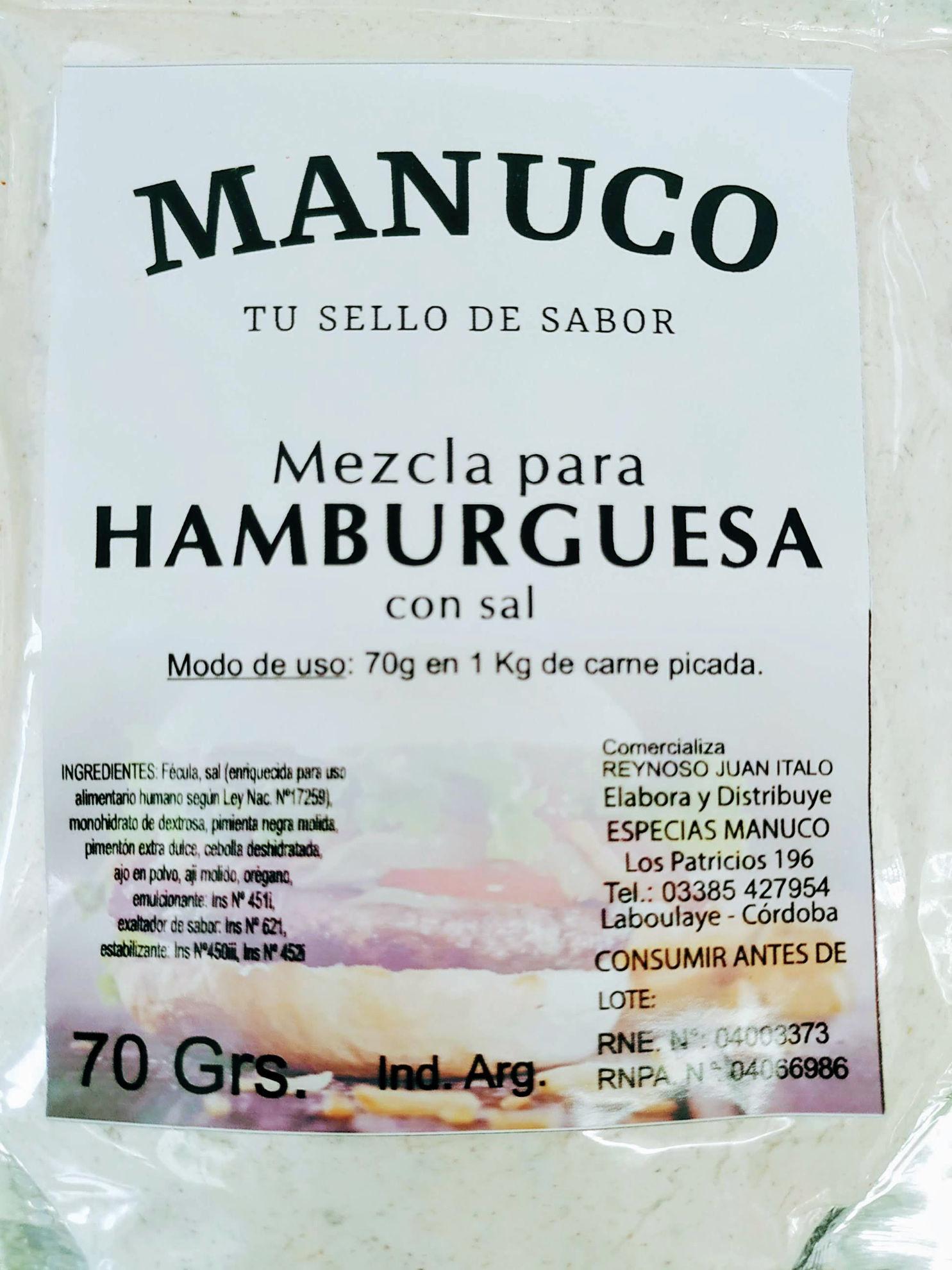 Foto de Mezcla para hamburguesas