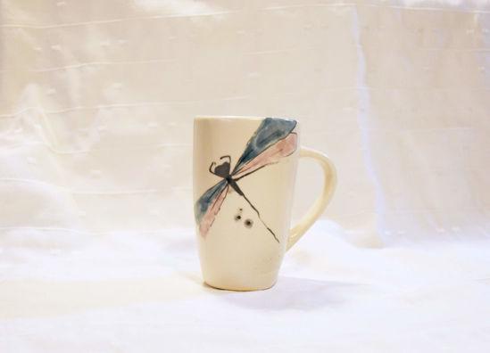 Foto de Taza de cerámica libélula