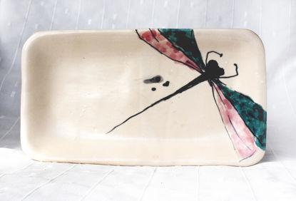 Foto de Fuente cerámica mediana  «Libélula»