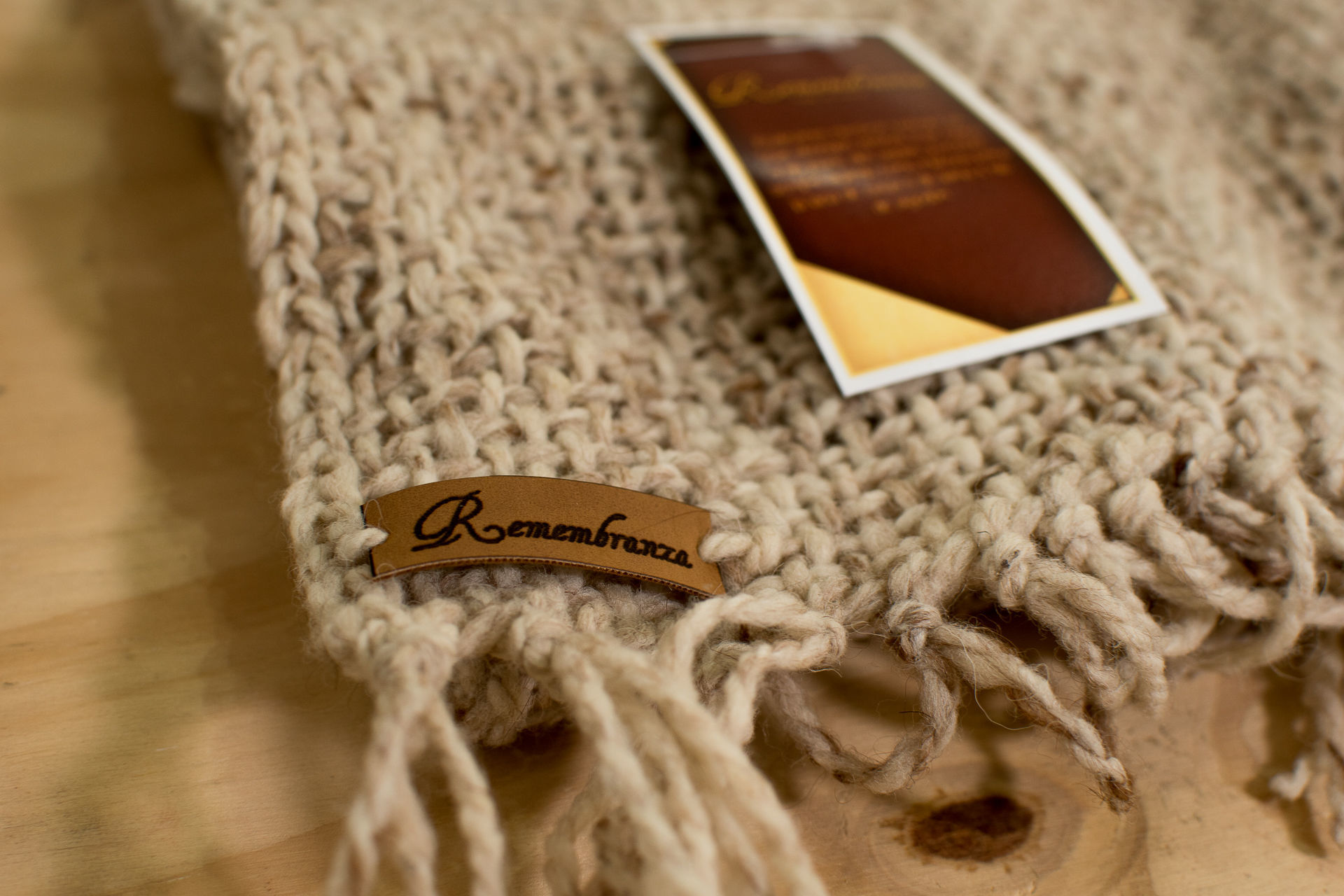 Foto de Manta/Pie de cama combinación lana oveja con llama