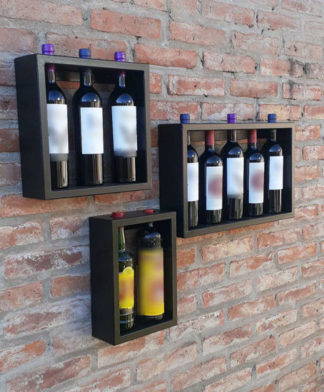 Repisa porta vinos para 3 vinos