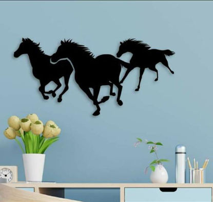 Foto de Cuadro triptico 3 caballos