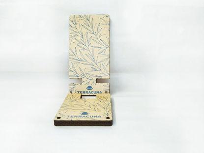 Foto de Soporte sustentable  para celular «Hojas»