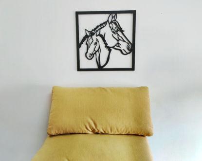 Foto de Cuadro tríptico 2 caballos