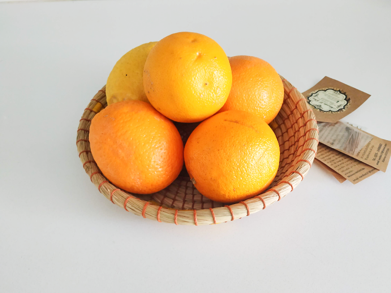 Foto de Panera en fibras naturales- detalles en amarillo